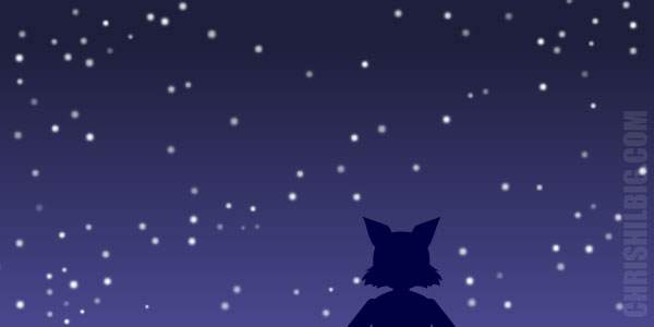 The final starry night image.