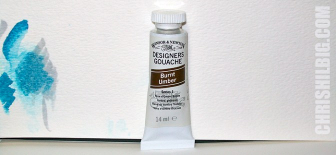 A tube of Winsor & Newton gouache