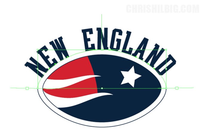 New England is resized in Illustrator