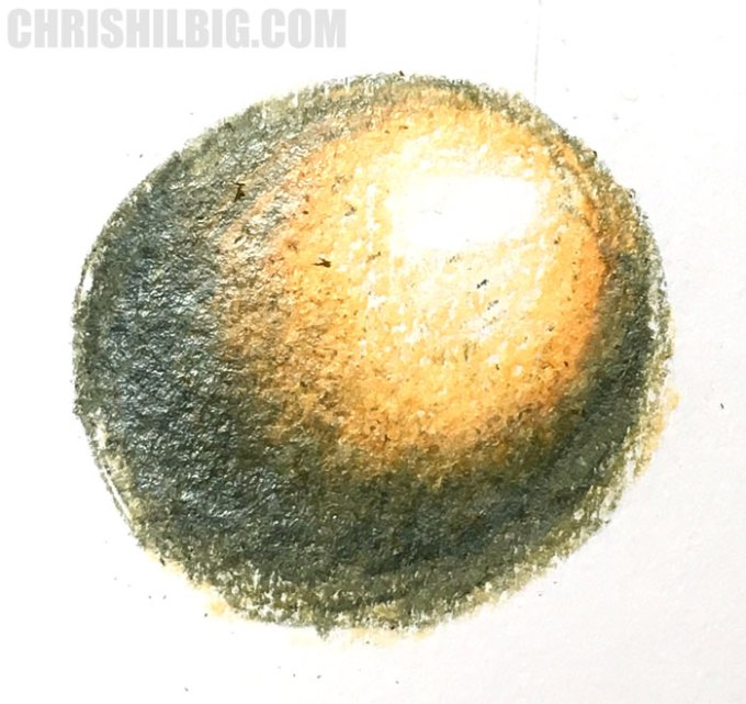 A blending test done solely using Goldfaber color pencils