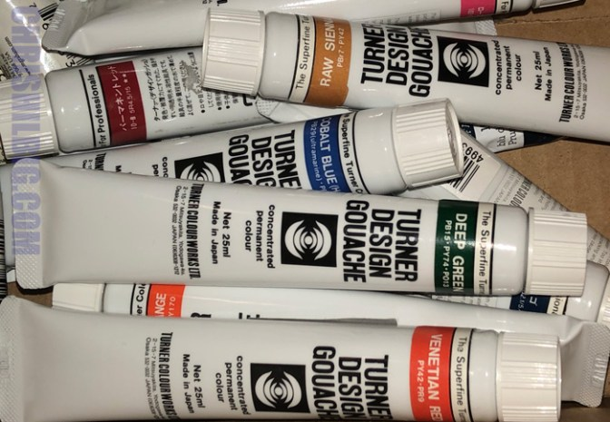 tubes of turner design gouache