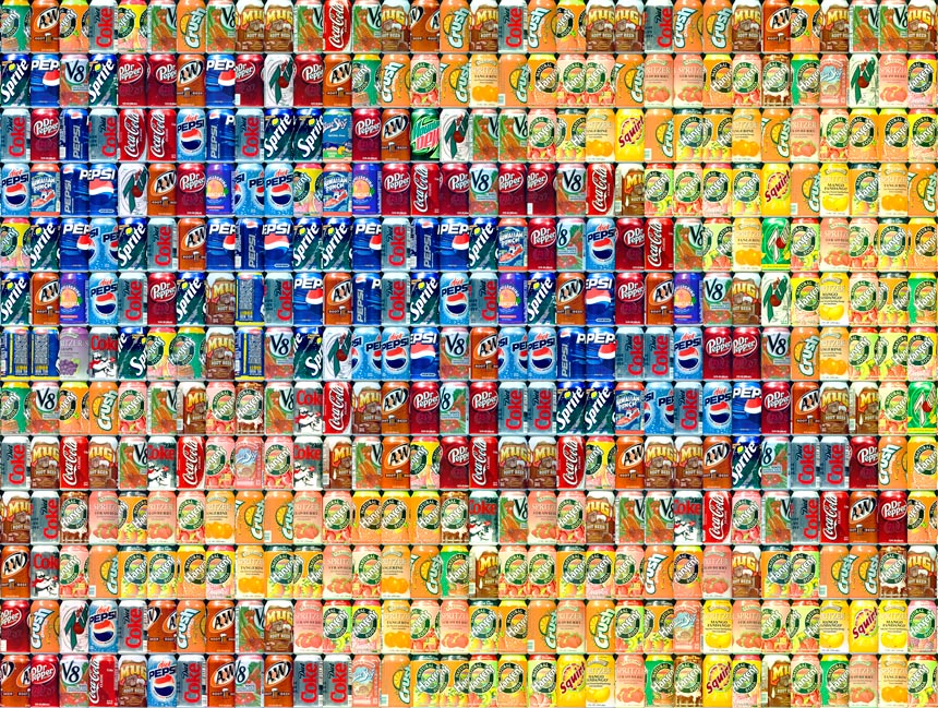 these cans made the art above!