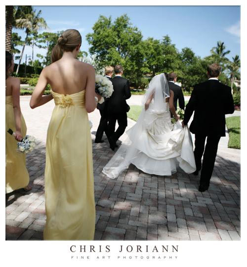 bridal party away