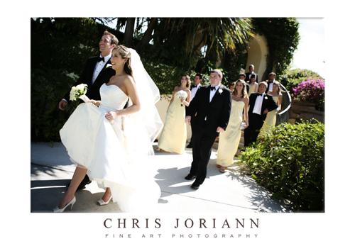 bridal party walking2