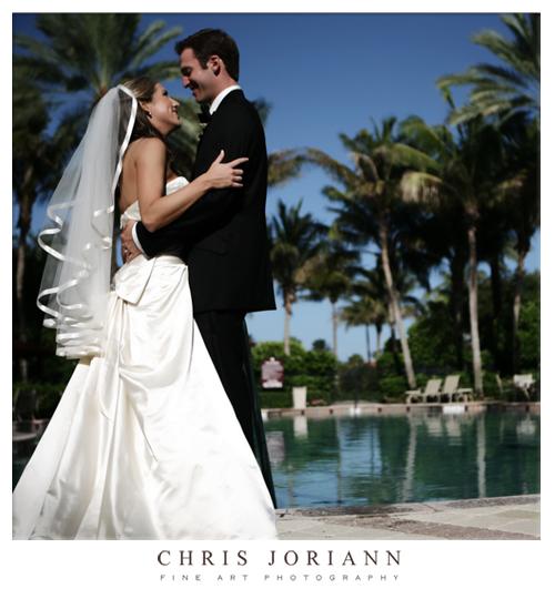 bride groom pool