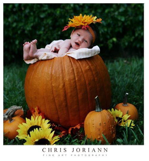 smiling in pumpkin