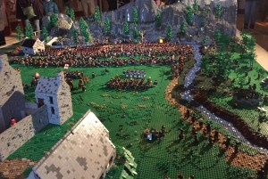 The Jacobite lego model at Stirling Castle