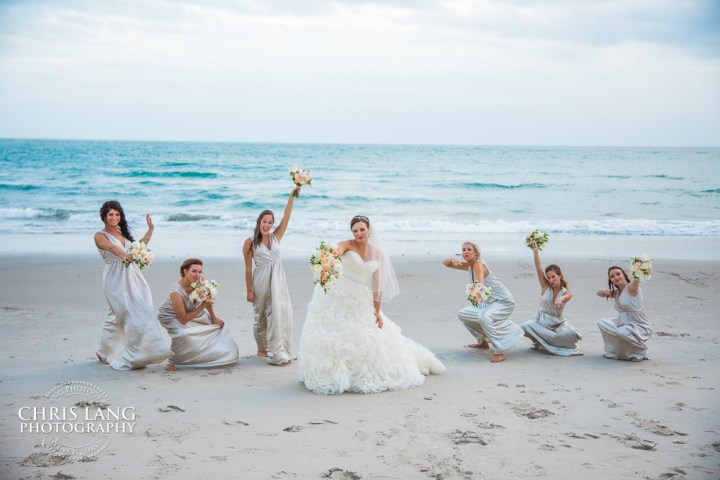 Bridal Party Picture Beach Weddings Wedding Ideas