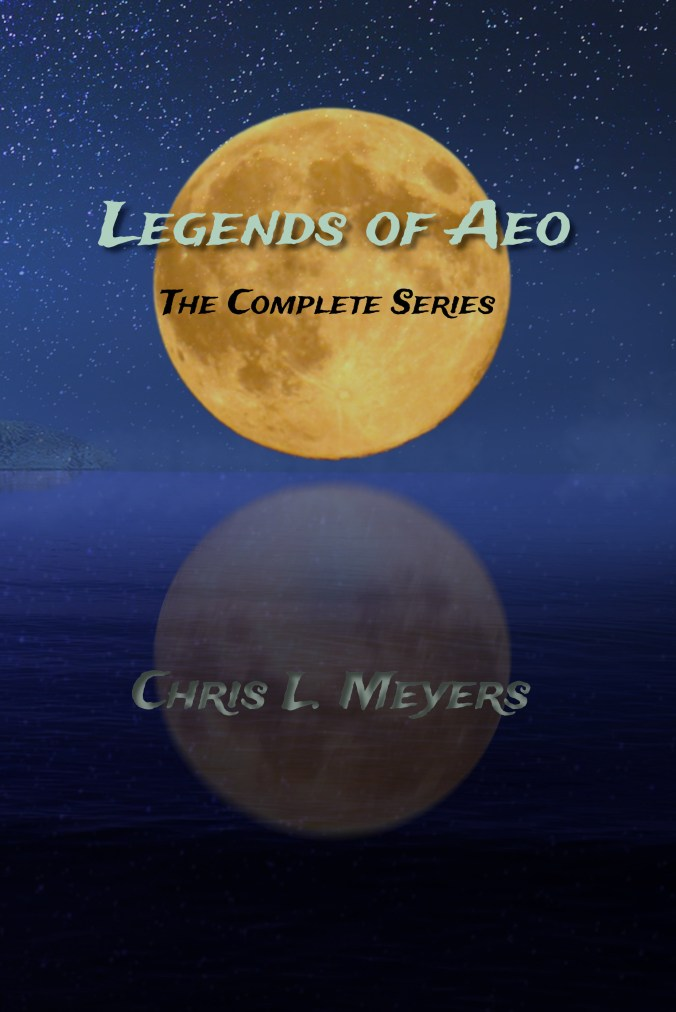 Legends of Aeo - orange moon over the sea