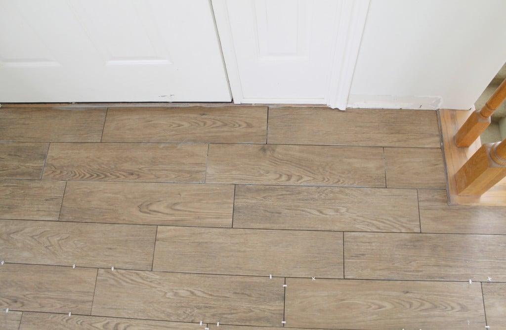 achieving realistic faux wood tile