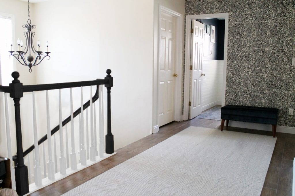 The Orange Elephant In The Room Chris Loves Julia   White Banister With Iron Spindles   Foyer   Remodel   Basement   Stair Heavy   Madison