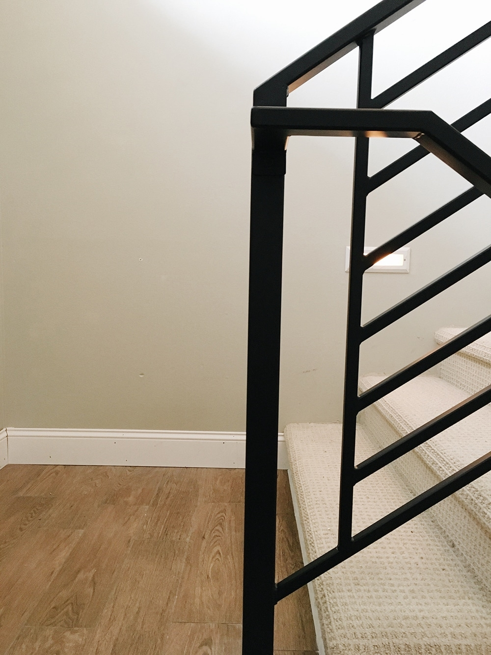 All The Details On Our New Horizontal Stair Railing Chris Loves | Modern Horizontal Stair Railing | Really Thin | Interior | Cast Iron | Cable | Elegant