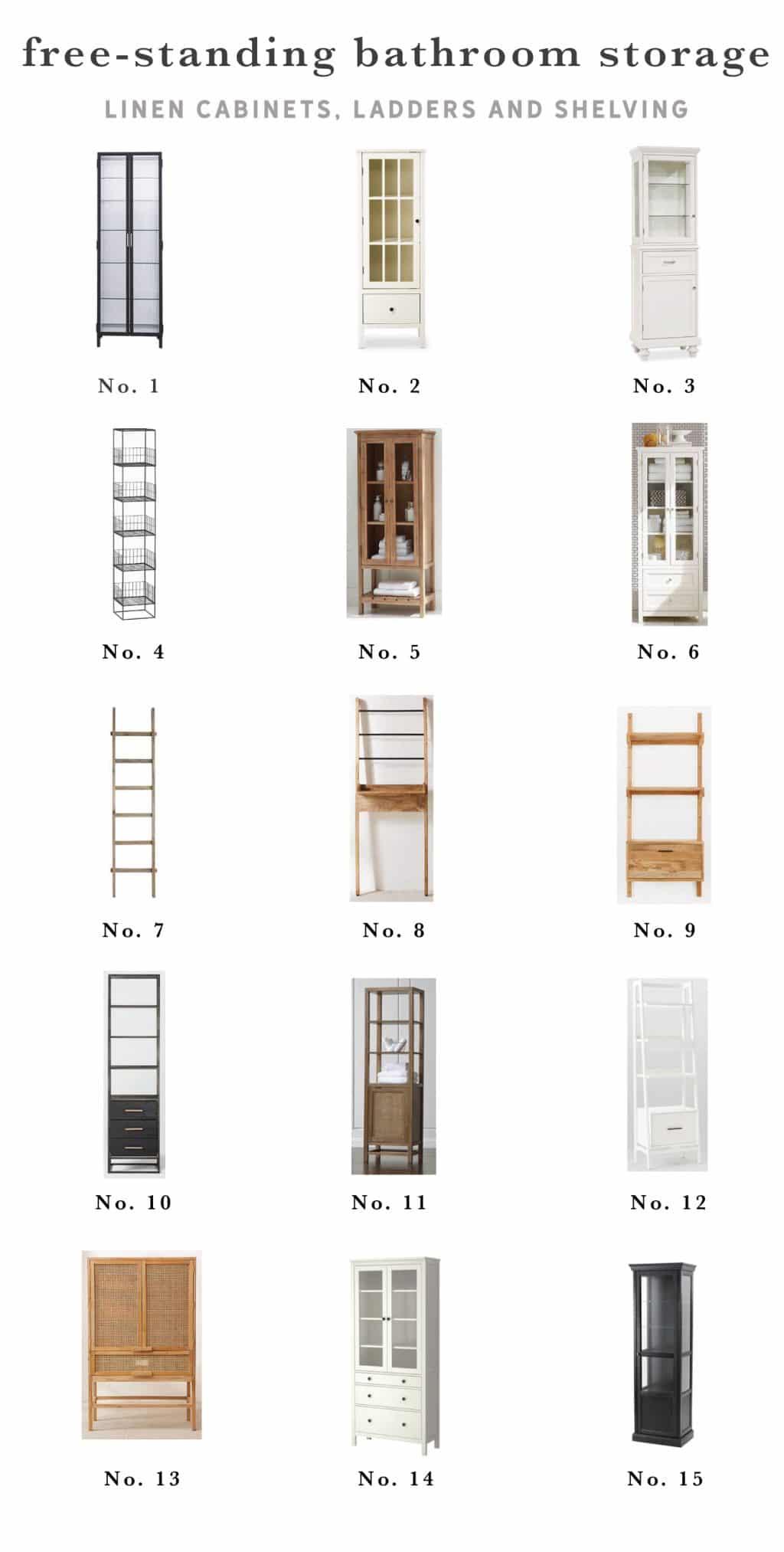 Our Favorite Freestanding Bathroom Linen Cabinets Chris Loves Julia