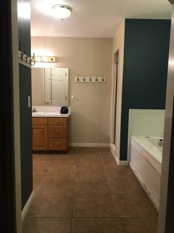 Our Master Bathroom Renovation  1 week in  It Gets Worse Before it     Nothing in our bathroom we ever touched or painted or updated besides  swapping out our shower head   a simple upgrade that anyone can and should do  if you