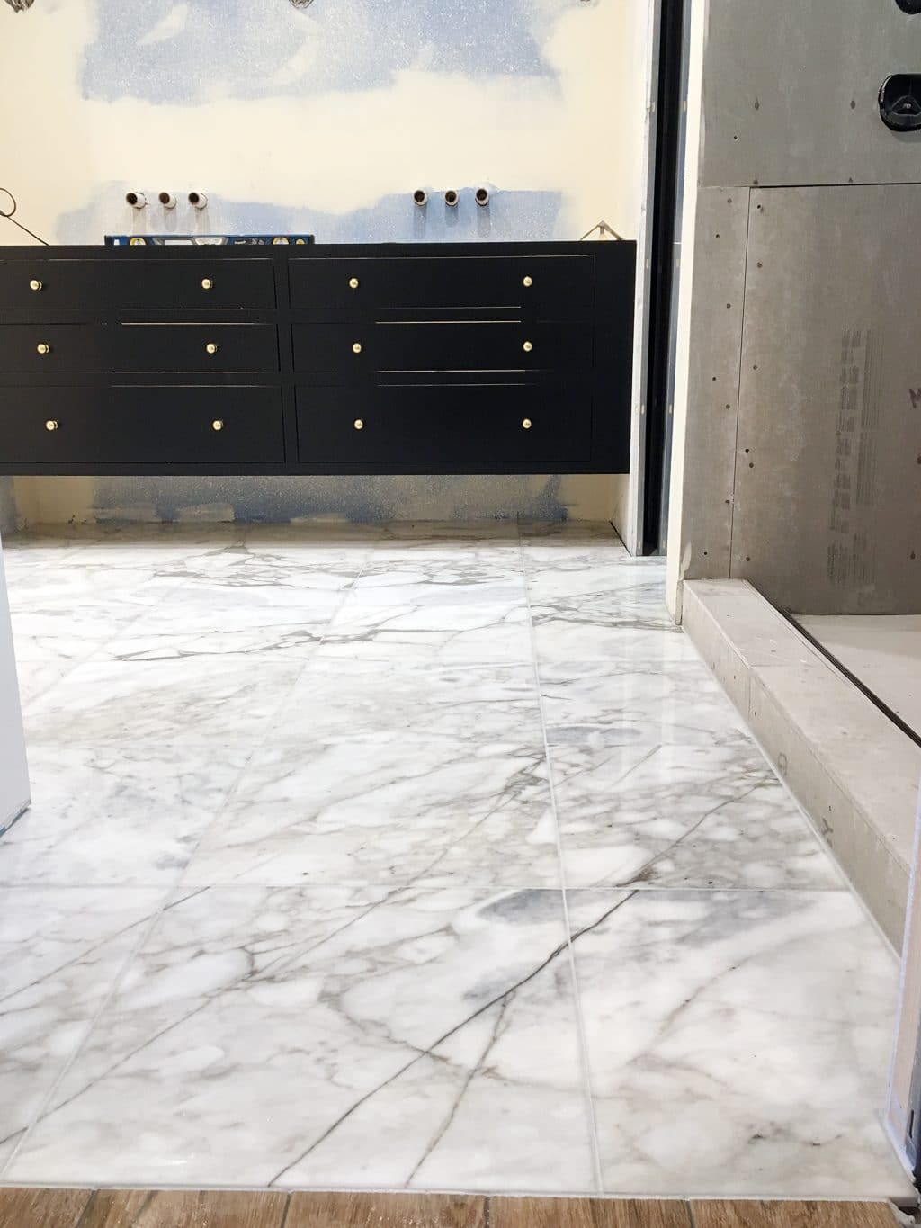 adding marble flooring to the master