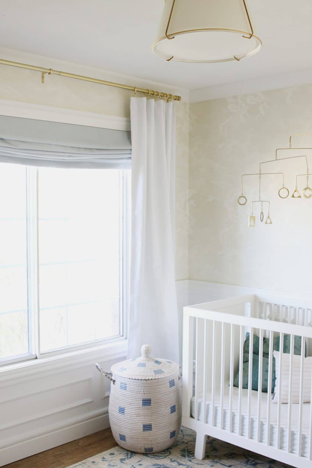 adding blackout curtains to the nursery