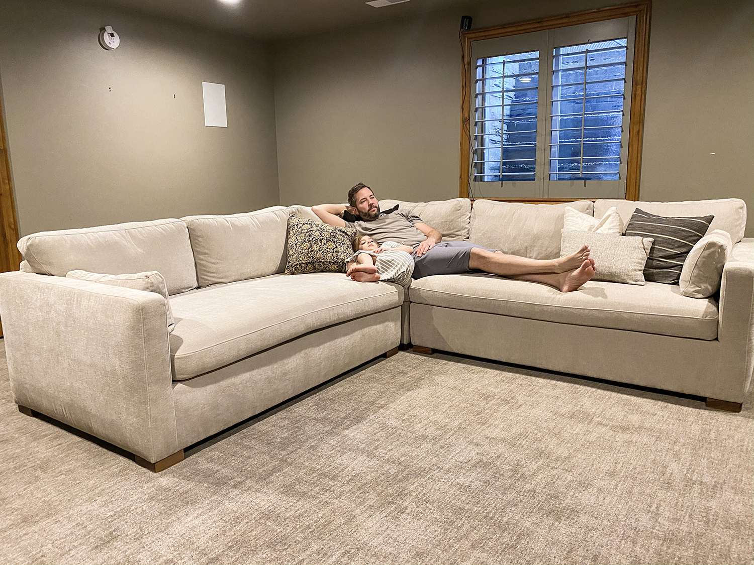theater room and new charly sectional
