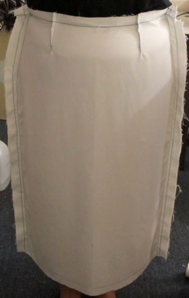 Pencil Skirt Muslin Front - seams taken in