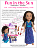Chris Lucas Designs - Fun in the Sun - Step by Step Doll Sewing Pattern for Hearts 4 Hearts - Gotz Just Like Me - Les Cheries Dolls