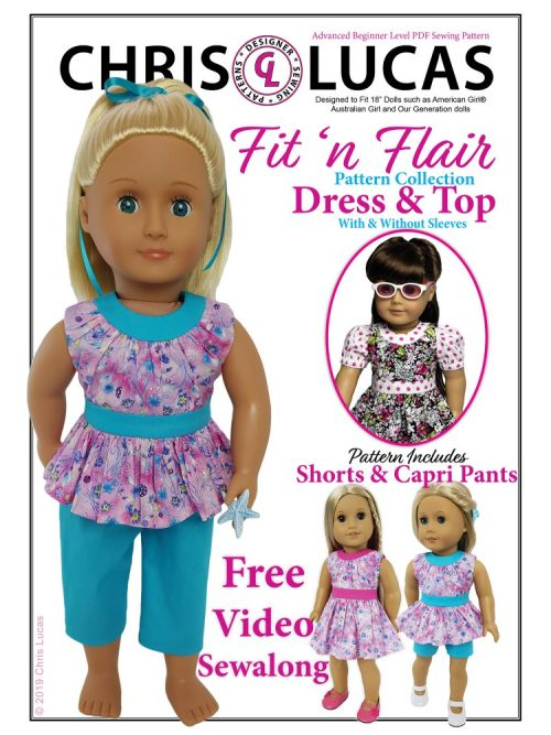 "Fit n Flair 18"" Doll Sewing Pattern - Chris Lucas Designs"