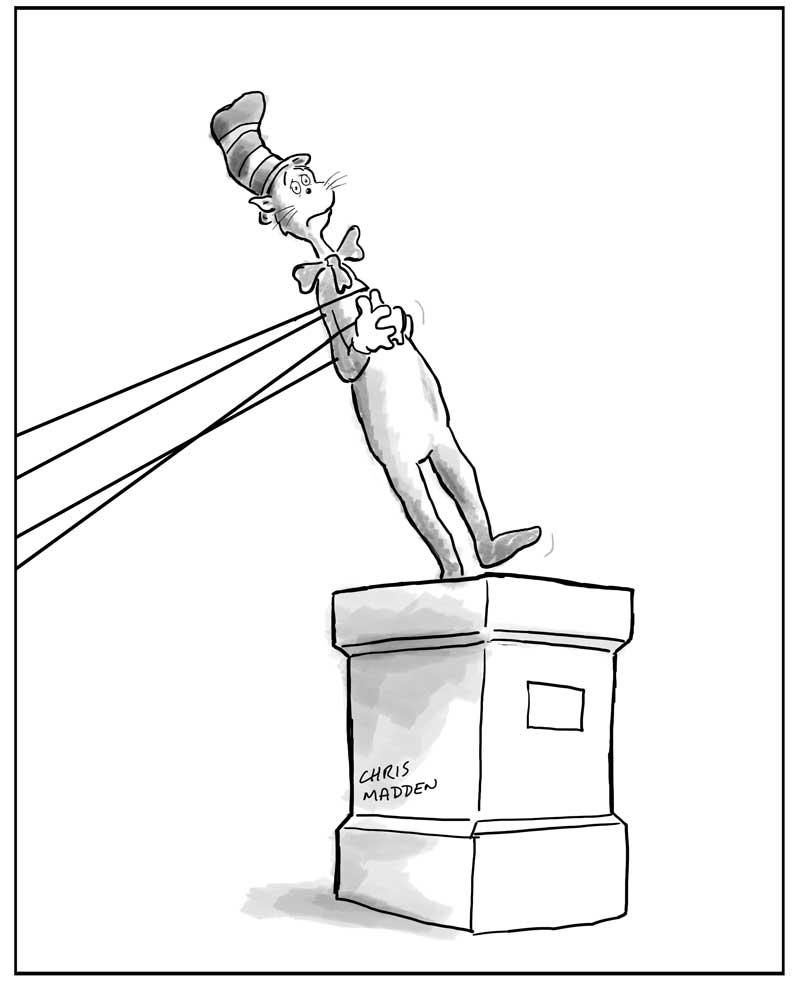 Dr Seuss racism allegation cartoon