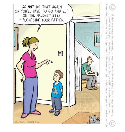 Naughty step cartoon