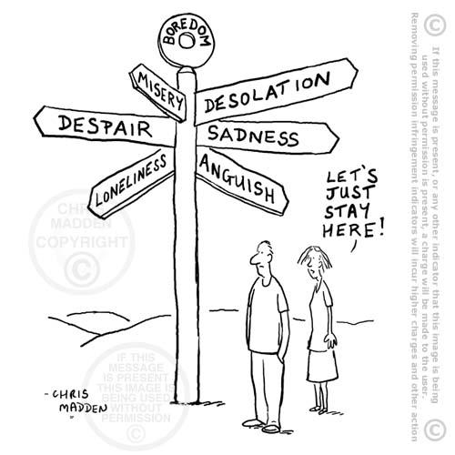 Philosophy - the human condition cartoon