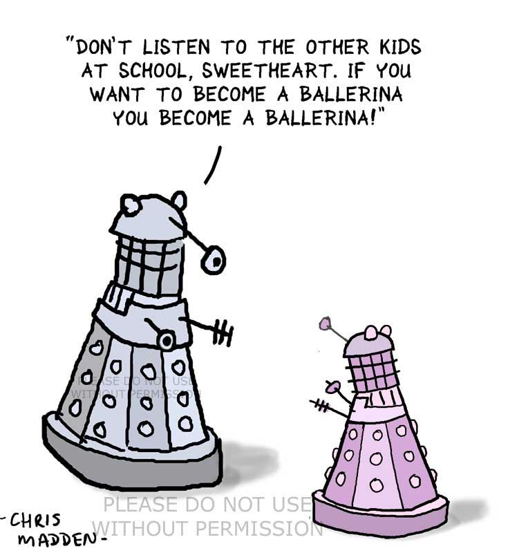 Dalek ballet lessons cartoon