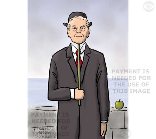 Caricature of Rene Magritte