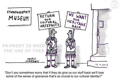 Museum repatriate artefacts cartoon