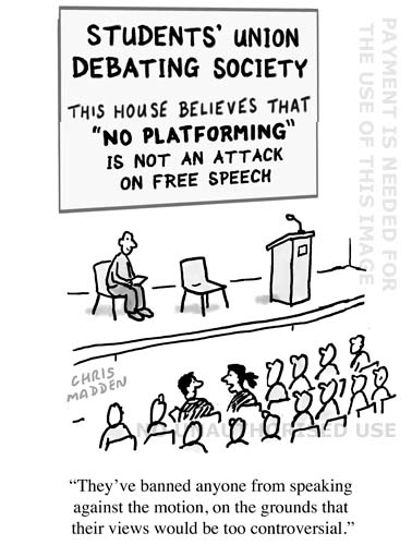 Cartoon - no platforming debates