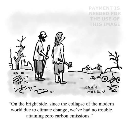 Climate change cartoon - the end is nigh crank