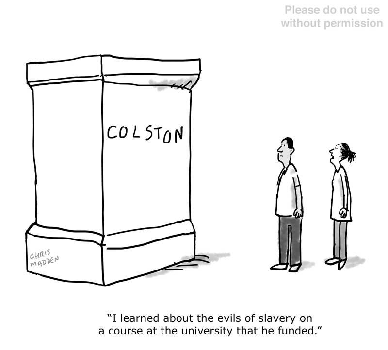 Colston statue cartoon