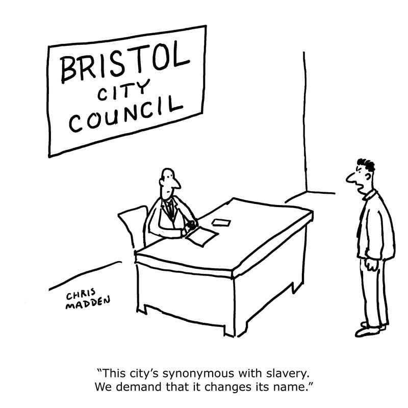Bristol slavery name change cartoon
