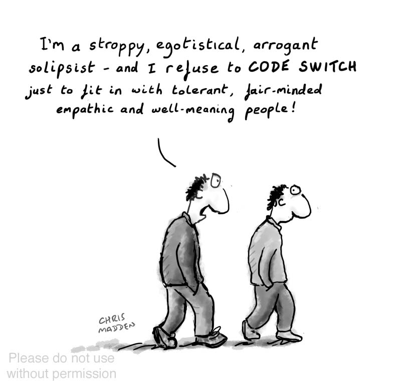 Code switching cartoon
