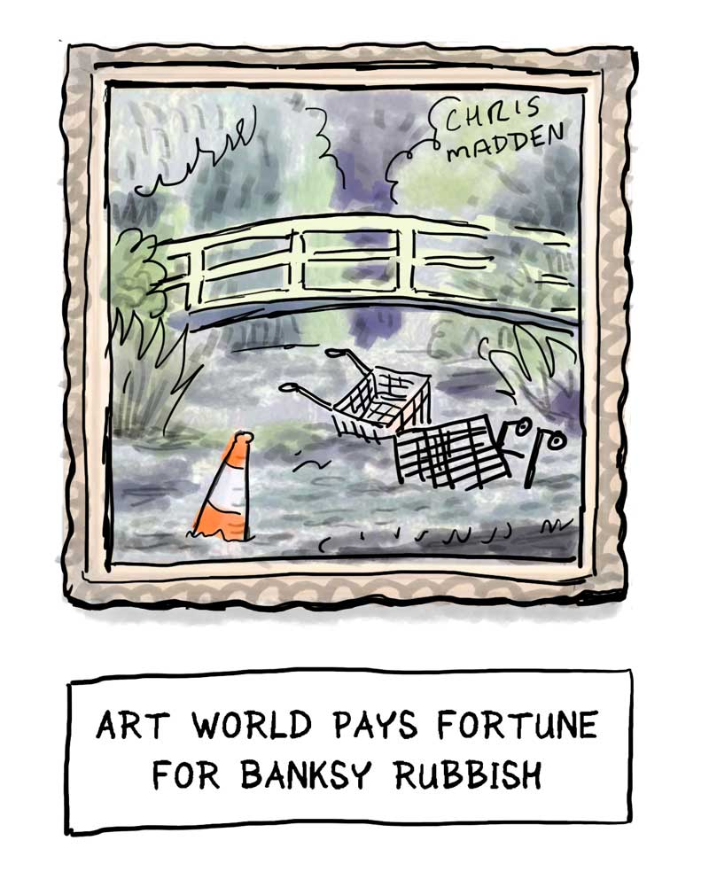 Banksy cartoon Monet