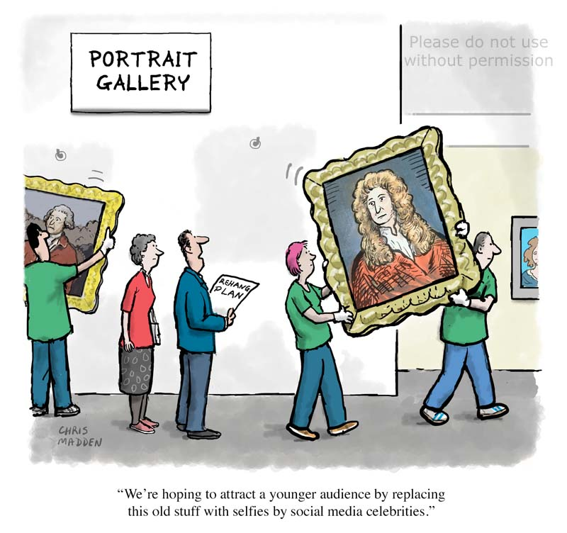 Celebrity culture in art cartoon