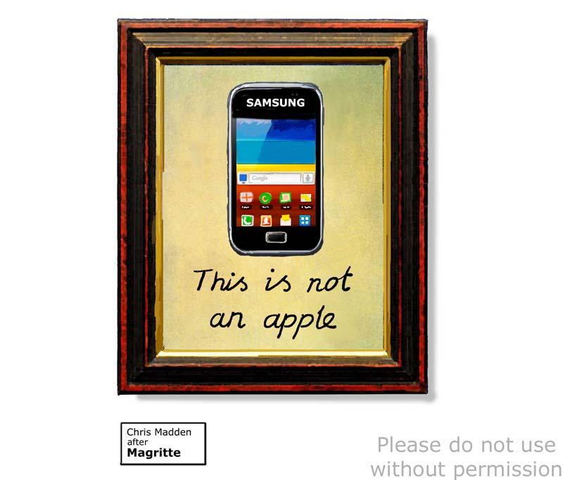 Magritte pastiche cartoon