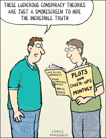 Image result for conspiracy theory cartoon