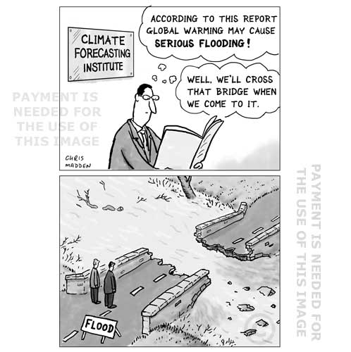 Cartoon - floods and extreme weather events