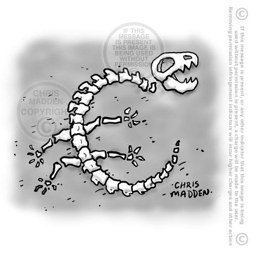 euro debt crisis fossil bones