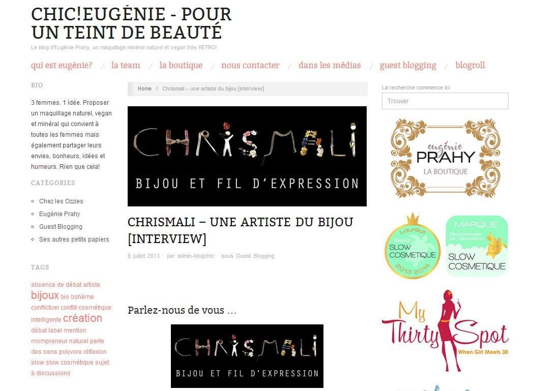 le blog de Chic-Eugénie