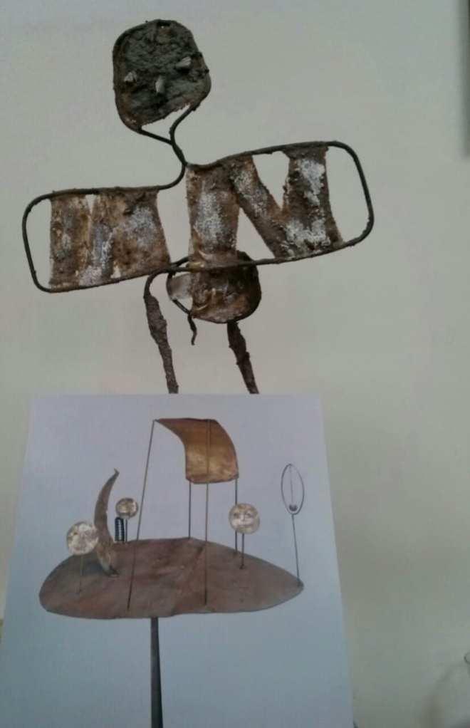 le cirque de Fausto melotti présenté par le drôle d'oiseau de Chrismali