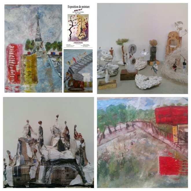 Chrismali - Peintures collages sur Paris- Sculptures les petits mondes