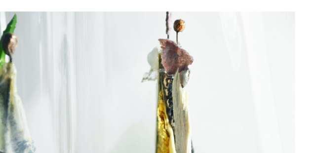 """Les sculptures """"petits mondes de Chrismali à l'exposition du Cercle des Artistes de Paris au Parc Floral"""