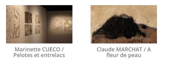 Marinette Cueco et Claude Marchat à la galerie Univer