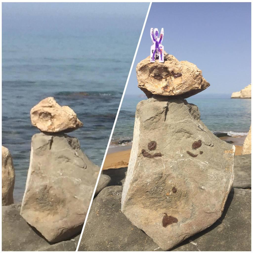 Balanced rock, avant apres