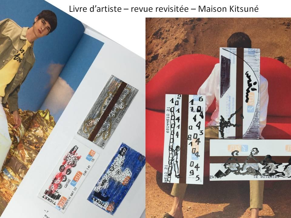 Re-vue - MAison Kitsune - livre d'artiste -Chrismali