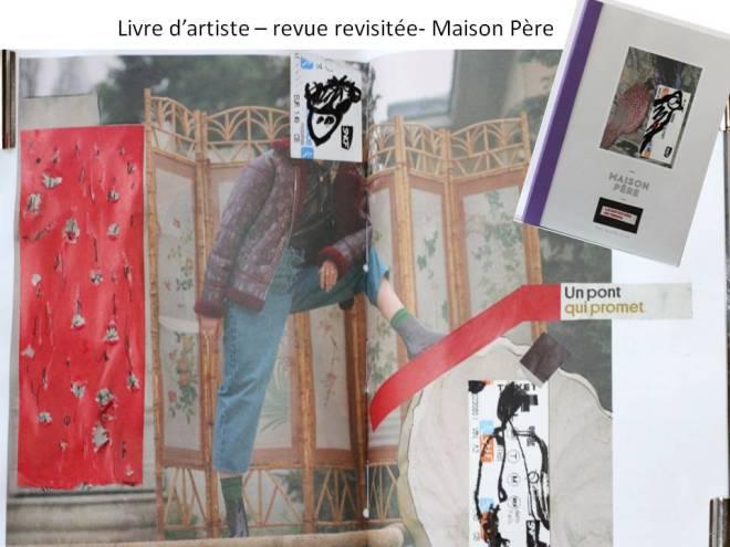 Re-vue - MAison Père - livre d'artiste -Chrismali