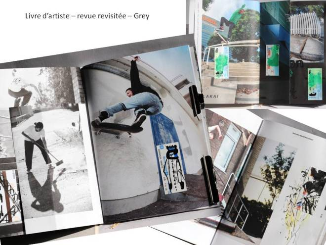 Re-vue - Grey - livre d'artiste -Chrismali